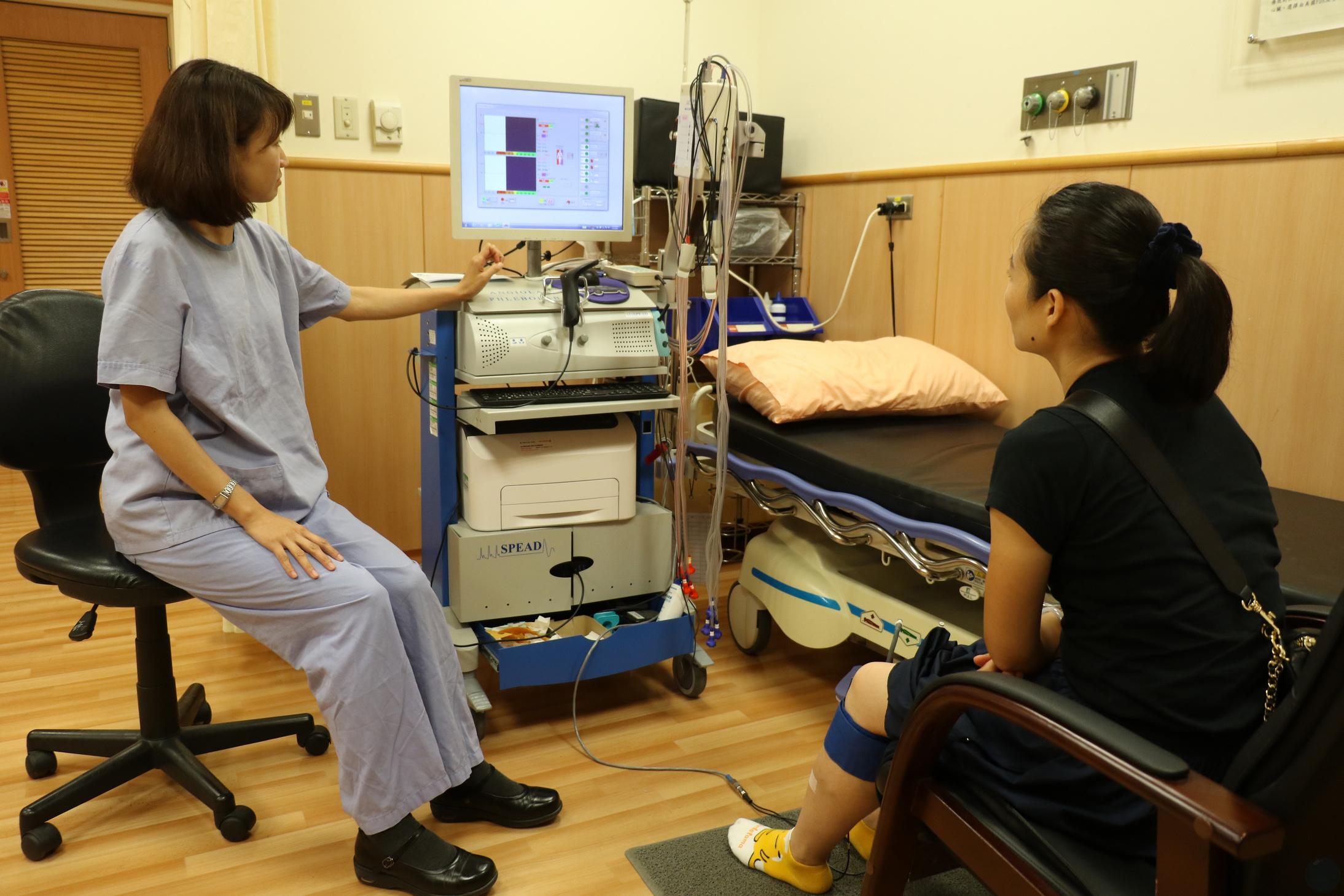 通過血管功能檢查了解靜脈曲張嚴重程度。