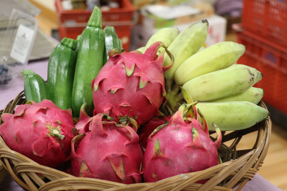 水果搭配蔬菜促進健康。