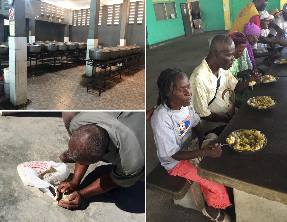 如濟神父2017年起開始每天針對年長獨居殘疾人士供餐。光是提供2萬個孩子用餐,需要煮144鍋白米飯,學校工作人員每天半夜12點就開始煮飯。掉落地上的米仍珍貴,當地人民用手一顆顆撿起來。