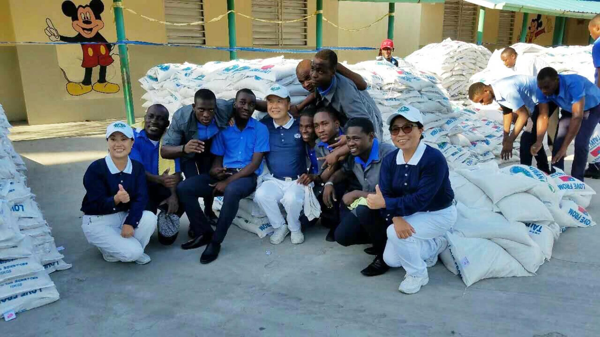 慈濟在海地多次發放台灣愛心米。