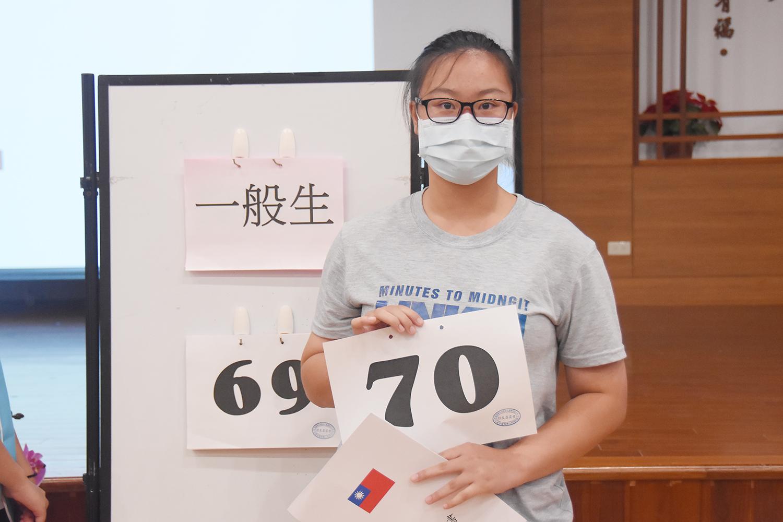 榮獲榜首的花蓮鳳林國中畢業生徐如穎,以慈濟科技大學為第一志願。