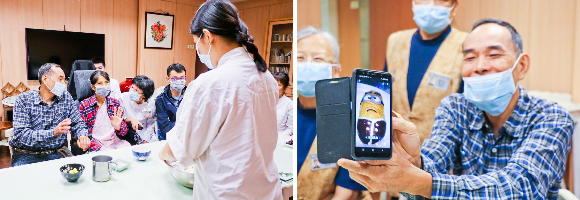 心蓮病房團隊投入「收藏麵包的記憶」圓夢活動,讓小佩在父母面前展現自己的烘焙能力,讓母親放心,父親也引以為傲。攝影/曾秀英
