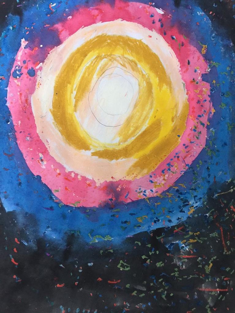 阿昌的得獎畫作太陽。