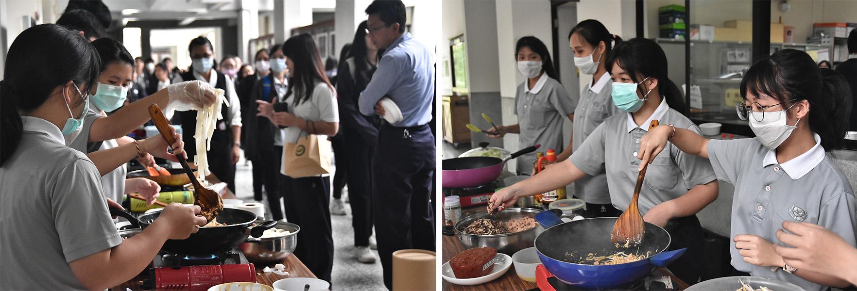 外籍生主動發起異國美食義賣,不少師生用行動支持義賣善舉。