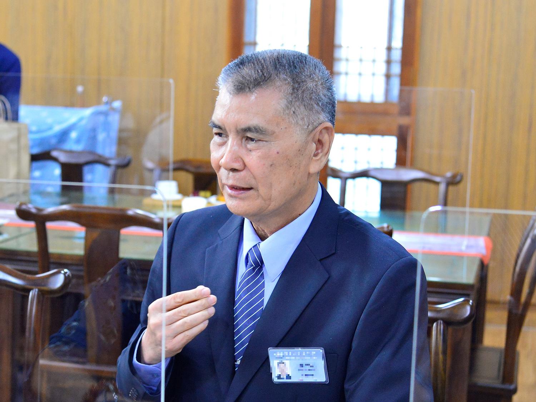 林坤旺日前受證為慈濟志工,希望能帶出多人投入公益。(攝影:歐明達)