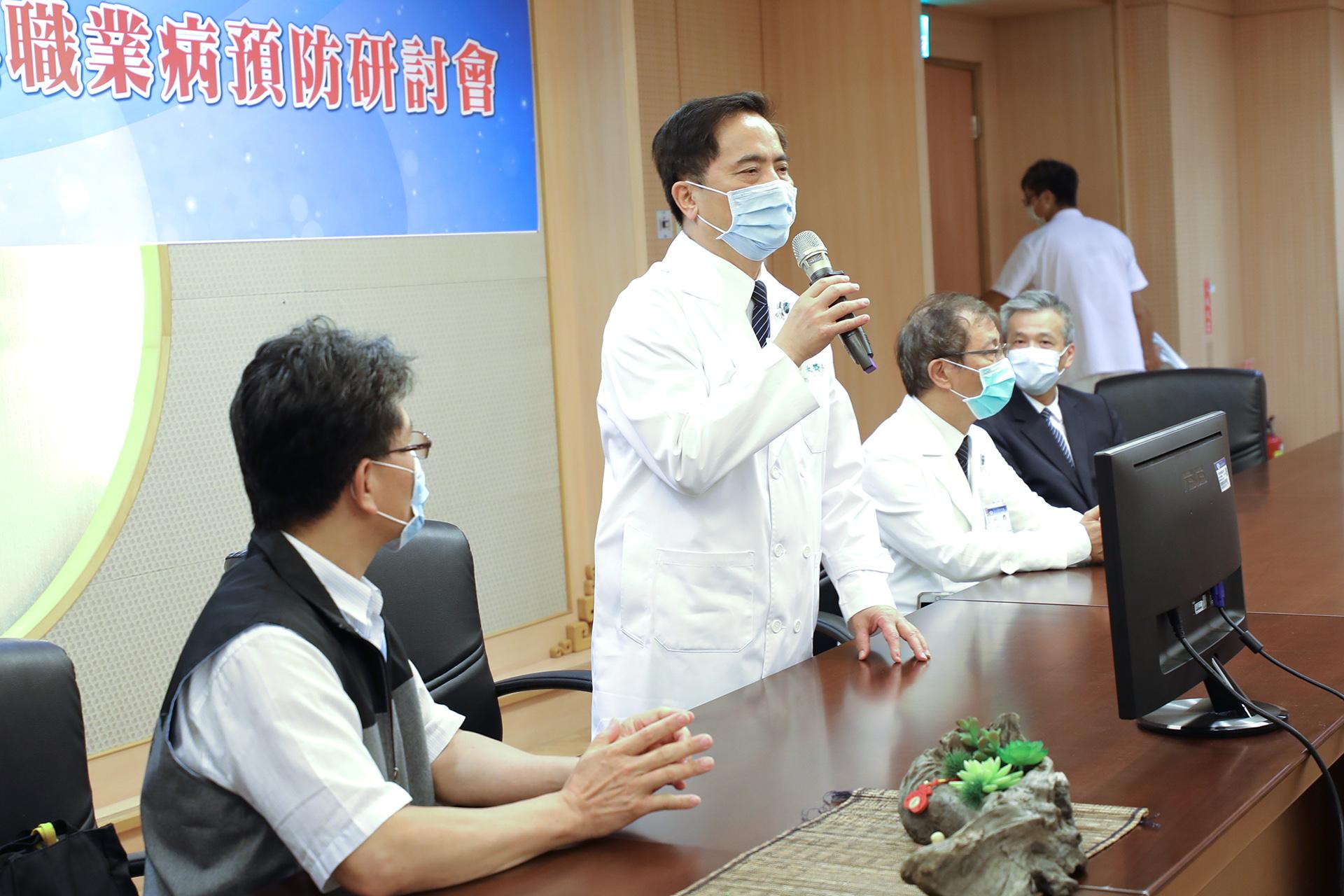 林欣榮院長強調預防醫學健康觀念,是守護同仁健康最實在的方法。