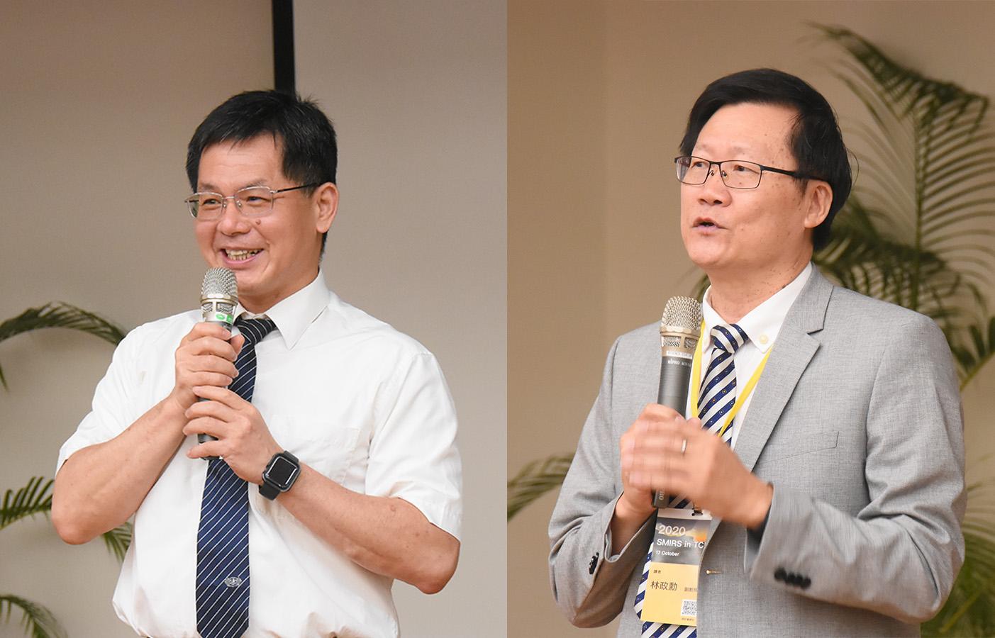 左圖:慈濟科技大學校長羅文瑞,右圖:台灣醫學影像暨放射科學學會理事長林政勳。