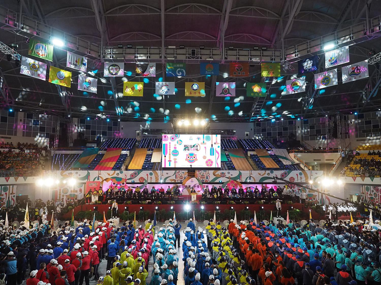 總統蔡英文蔡英文總統出席109年全民運動會開幕典禮,肯定與感恩台灣人民的共同防疫,才能在全球仍籠罩在疫情下的同時,辦理年度盛大活動。(攝影:陳冠霖)