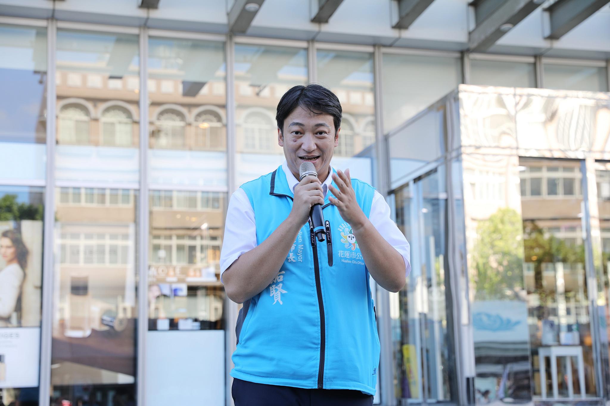 花蓮市長魏嘉賢也到場支持驗血建檔活動,魏嘉賢市長代表親友表示,一點點的血,卻可以帶給血癌病友希望,甚至讓他們有機會活下來。