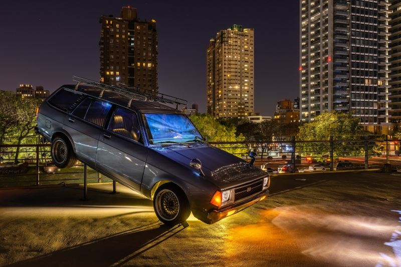 國立臺灣美術館「2021臺灣國際光影藝術節」蔡宜婷(對稱加速度)。