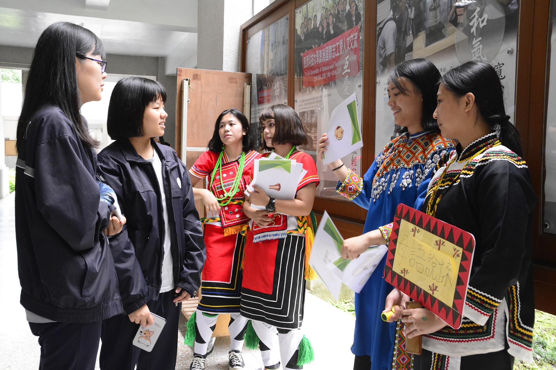 族語教學闖關遊戲,讓師生更了解原住民的特色。
