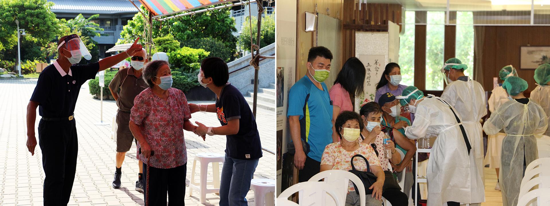 清水靜思堂9月15至17日預計超過2700人接種疫苗。